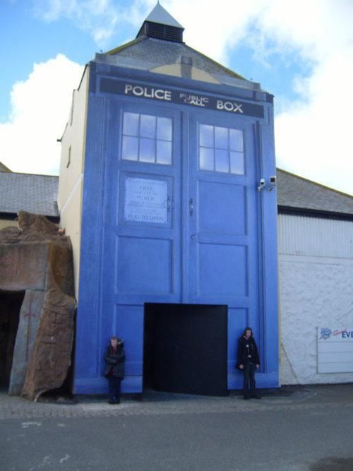 #DoctorWho TARDIS Painted Building Facade --- It's bigger on the inside! Much bigger.
