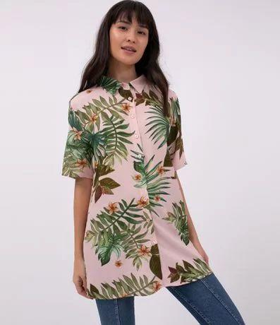 Camisa Estampada com Folhagens - Renner