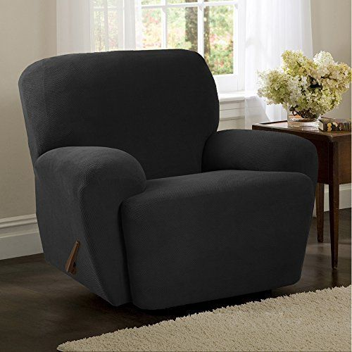 Maytex Pixel Stretch Fabric Recliner Slipcover Charcoal By Maytex Home Decor First Recliner Slipcover Furniture Covers Slipcovers Slipcovers For Chairs