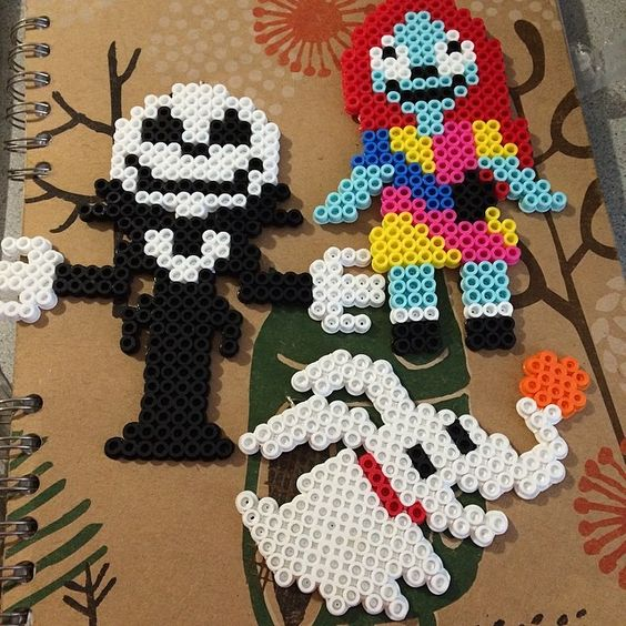 Nightmare Before Christmas perler beads by nerdybeadz