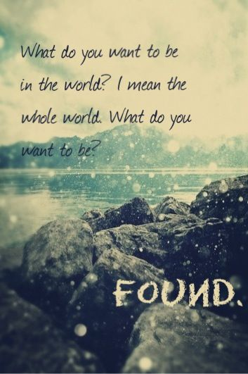 August Rush <3 i want to be found