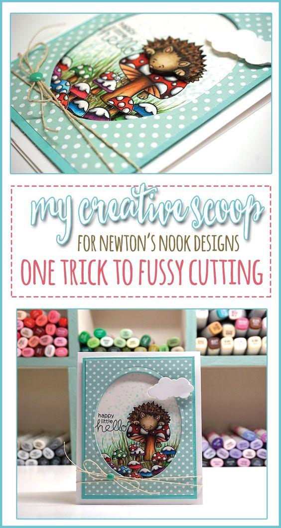 One Trick to Fussy Cutting and using your Copic Markers