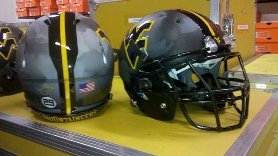 WVU 2010 ProCombat Helmets