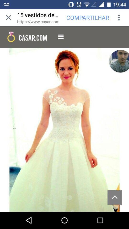 Sonho de vestido usado pela personagem de Grays anatomy April ❤😍🌼🍃