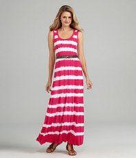 A goregous striped dye dress from Calvin Klein.