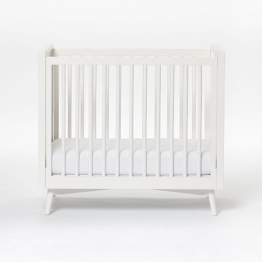 Mid Century Mini Baby Crib Mattress Set White West Elm Mattress Sets Mini Crib Baby Crib Mattress