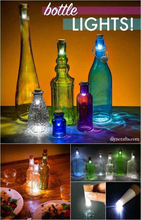 Comment transformer une bouteille en verre dans une lanterne décorative simple.  Une telle idée de réutilisation créative!