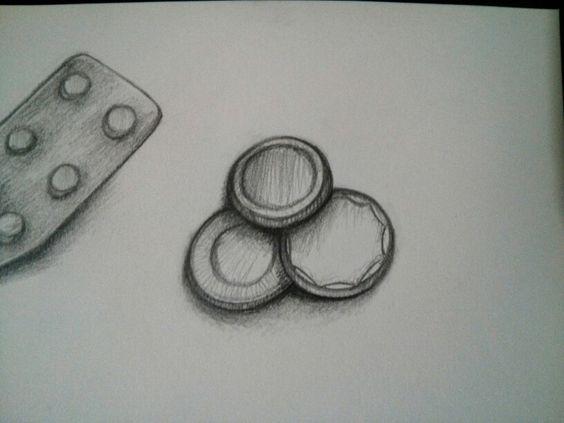 30 días dibujando: 26/30.  #Dibujo #draw #drawing #pencil #lapiz #monedas #coins