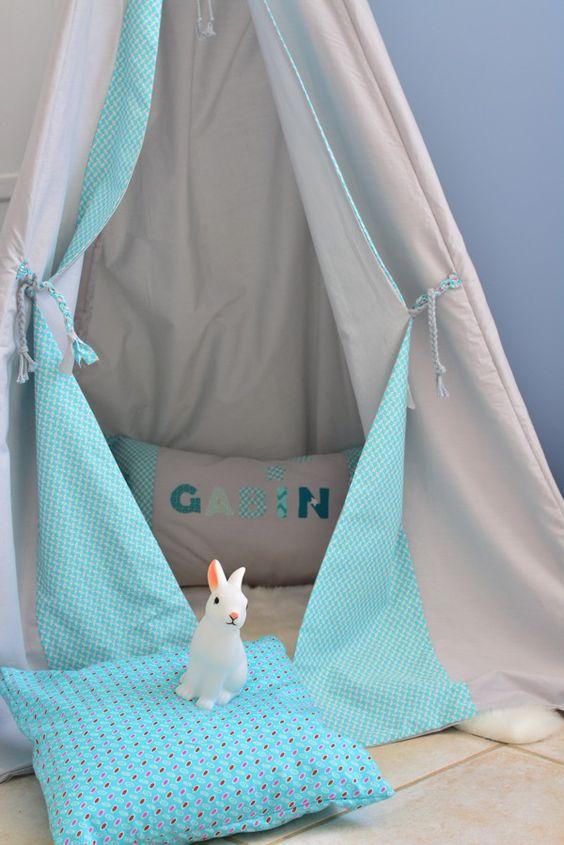 Tipi gris bleu Made by CyCy