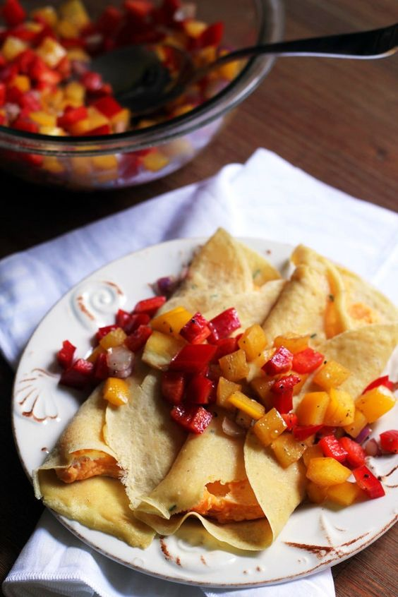 ... goat cheese red peppers chickpeas red pepper relish fall goats crepes