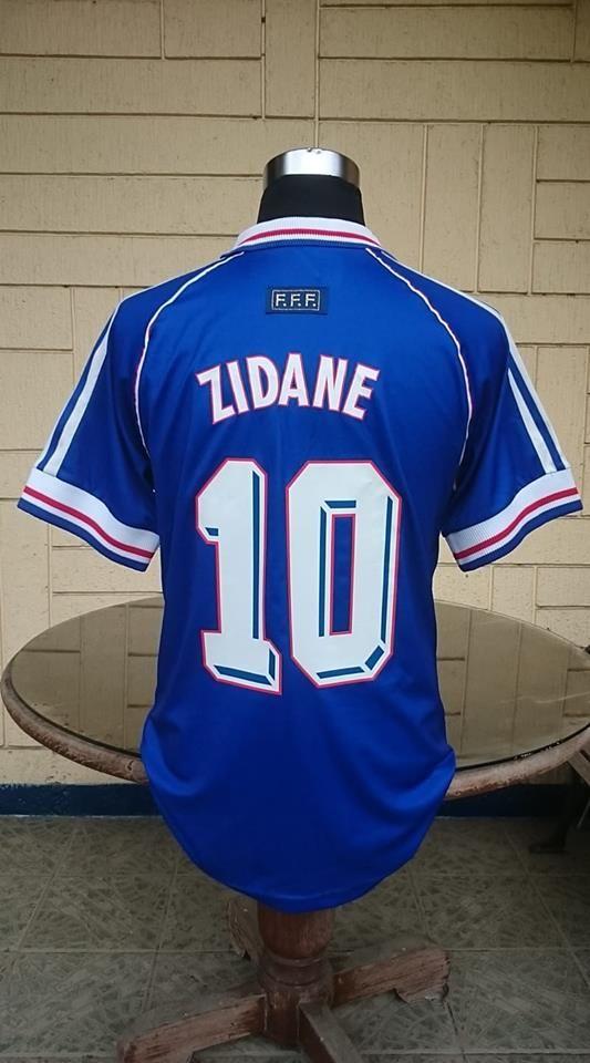 France 1998 World Cup Champion Zidane 10 Jersey Replica Adidas Away Shirt Maillot L Jersey World Cup Champions Football Jerseys
