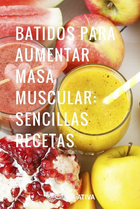 Batidos Para Aumentar Masa Muscular Sencillas Recetas Batidos Para Masa Muscular Licuados Nutritivos Para Desayunar Alimentos Aumentar Masa Muscular
