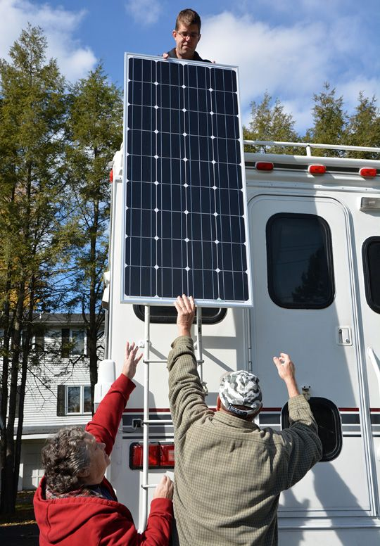 Installing a solar panel on their project camper takes a big step towards cutting the cord and camping off-the-grid.