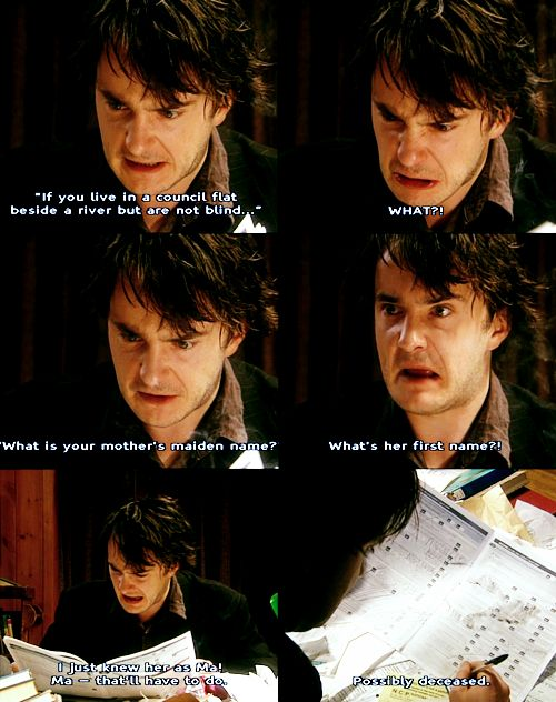 Black Books!! Too many funny moments to pick from...None of which are quotable in any real-life situation unless you what you want is an awkward silence.