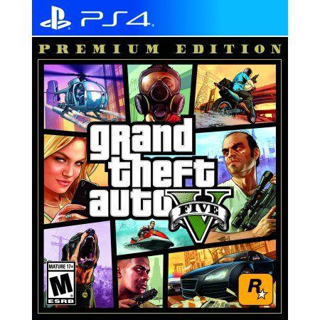Grand Theft Auto V Premium Edition Rockstar Games Playstation 4 710425570322 Walmart Com Grand Theft Auto Grand Theft Auto Games Rockstar Games