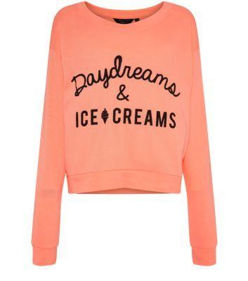 Teens Coral Daydreams & Ice Creams Sweater