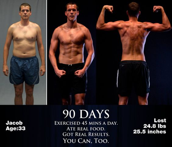 Amazing change. Pleased with his results!