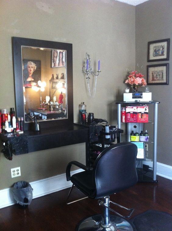 In home hair salon ideas in home hair salon pinterest - Ideas salon pequeno ...
