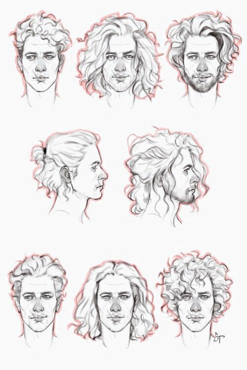 Male Hairstyles Drawing Hair Reference Boy Hair Drawing Curly Hair Drawing How To Draw Hair