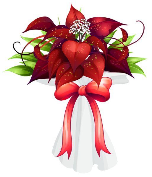 Red Flowers Bouquet PNG Clipart Image | Bouquets de flores | Pinterest ...