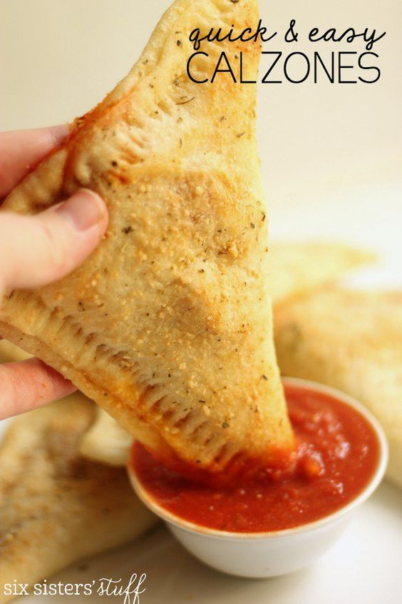 This quick and easy calzones are so tasty! They make a perfect weeknight dinner.