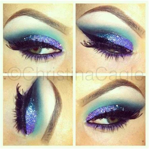 Turquoise Glitter Eyes by ChrisspyMakeup