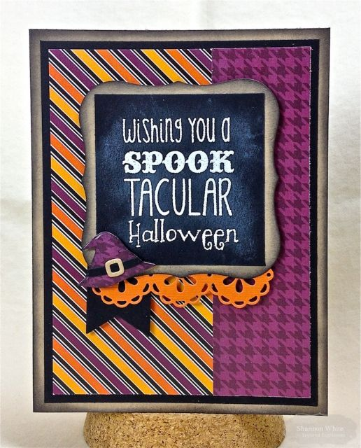 Spook Tacular Halloween Card by Shannon White #Cardmaking, #Halloween, #LittleBitsDies