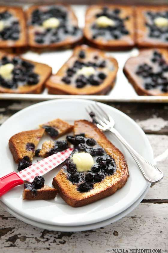 Baked Blueberry French Toast - Marla Meridith - MarlaMeridith.com