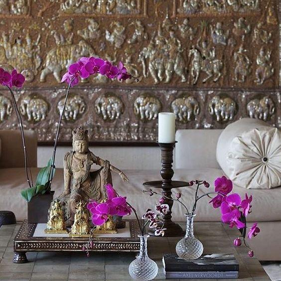 On instagram by design_e_comportamento #homedesign #metsuke (o) http://ift.tt/1OzrJli morning!  Inspiração #homedecor  #home #decoracao #mesa #table #orquidea #flores #oriental #inspiração #inspiration