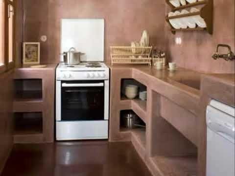 Diseno De Cocinas De Cemento Youtube Cocina De Cemento