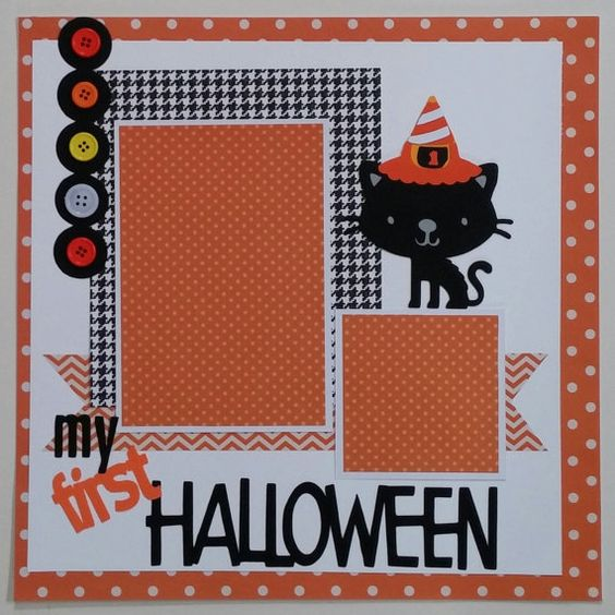 My First Halloween  Baby  premade scrapbook layout by ohioscrapper