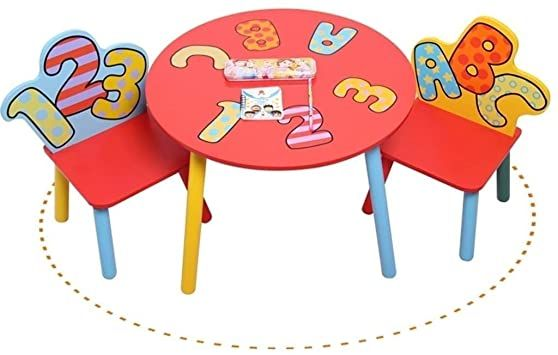 Dfqx Wood Table Set For Kids 1 5 Years Activity Table Chair Set Study Table And Chair For Children Baby W In 2020 Kids Study Table Study Table And Chair Study Table