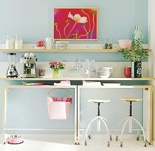 Mesas altas de cocina como alternativa a las mesas plegables en ...