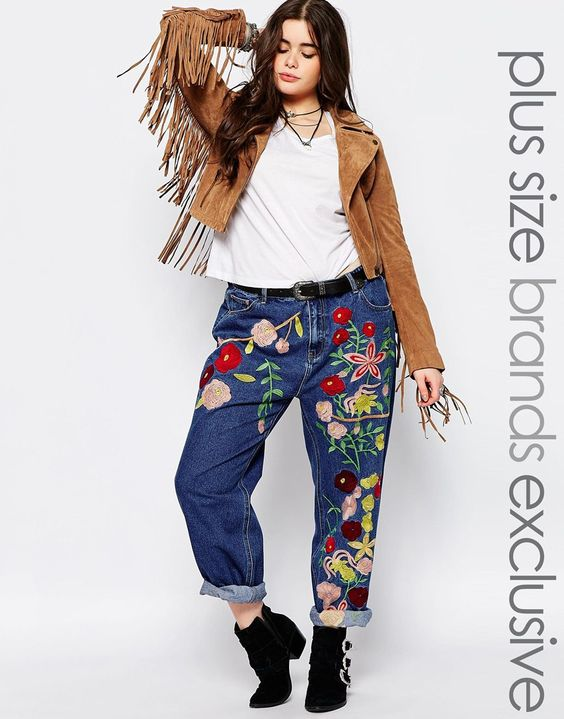 Image 1 of Alice & You Embroidered Girlfriend Jean | yes please ...