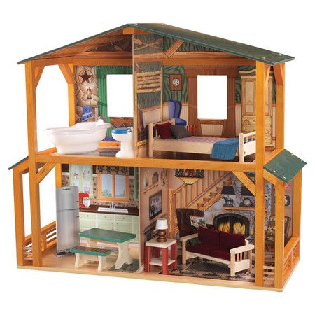 """KidKraft Campfire Cabin Doll House, SAVE 43% Reg $117.00, Now $67.00, (8/10/13), at Wayfair.com.  Product Details: (SKU #: KK2345) 12 pieces of doll furniture Colorful, detailed artwork on each and every wall Wide windows allow dolls to be seen from different points of view Large enough that multiple children can play at once Made of composite wood products Product weight: 21 lbs Dimensions: 26.81"""" H x 11.73"""" W x 31.1"""" D"""