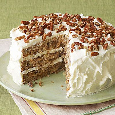 Hummingbird Cake -     The first time it ran in the magazine it had 1 1⁄2 cups of oil and double the frosting. We much prefer this version today; it's every bit as yummy as the original, higher-fat version.
