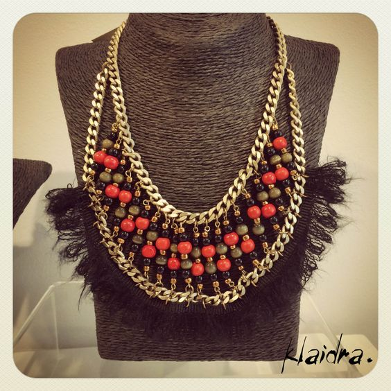 The *mayan* mohair beaded necklace at NymphesArtGallery, @mcarthurglenathens #fw15 #newdesigns #designers #sneakpeek #jewelry #handmade #bohemian #ethnic #gypsy #fashion #pompom #beaded #necklace #greekdesigners #klaidrajewelry #mcarthurglen #mcarthurglenathens #nymphesartgallery