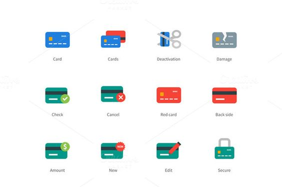 Credit and payment card colored icon by Brothers Good on @creativemarket