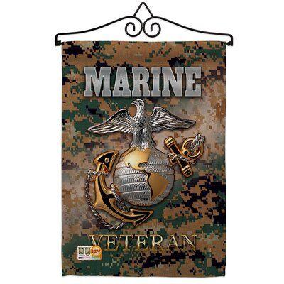Breeze Decor Impressions Decorative 2 Sided Polyester 19 X 13 In Flag Set Wayfair Ca Breeze Decor Marine Veteran Marine
