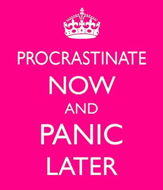 nualan: Procrastinar o no procrastinar