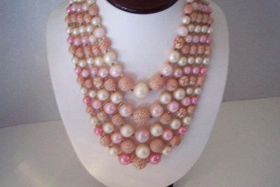 Iridescent Crackled Pink and Pearl Bead by JewelsAndMyGirls3, $23.00