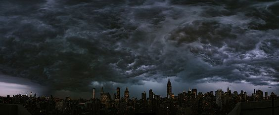 The Sky Right Now July 26, 2012 by Ryan Brenizer // This is an actual unphotoshopped image of the sky this evening over New York City. There was  a wicked Derecho up there but it didn't hit me in Brooklyn too hard. Thankful for the rain without downed trees but the night is young.