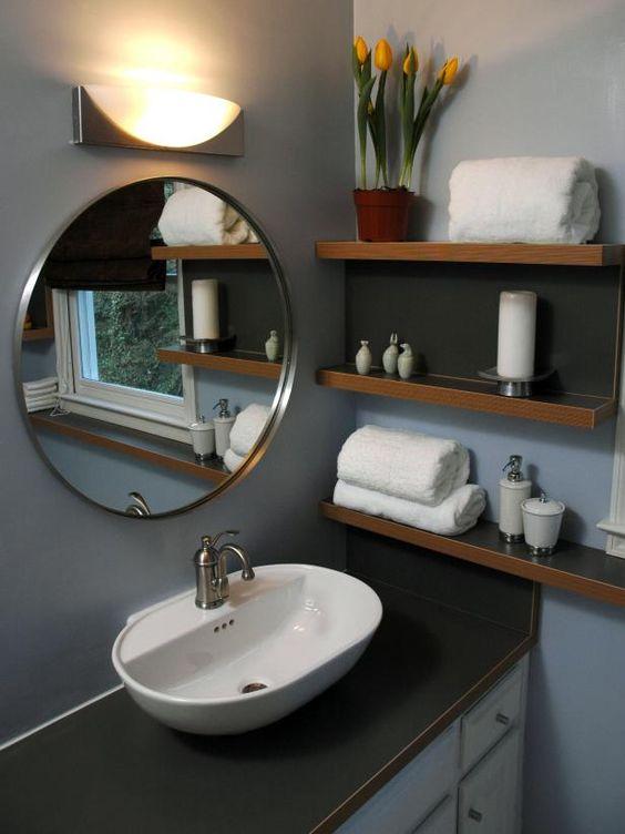 Fantastic bathroom makeovers pinterest vanities for Tight bathroom design