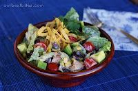 chipotle chicken salad, i love the chipotle ranch in this recipe