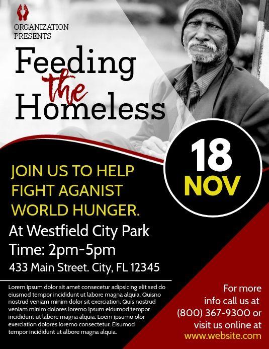 Feeding The Homeless Flyer Homeless Donation Drive Flyer