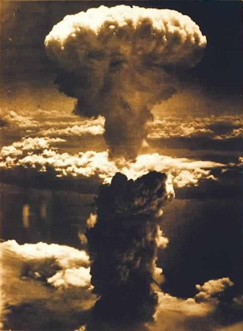August 06, 1945. Mushroom cloud from the atomic explosion over Hiroshima. S):