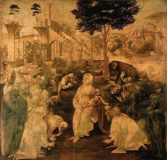 The Adoration of the Magi, by Leonardo Da Vinci, 1481-82