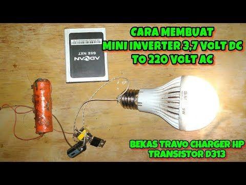 Mini Inverter 3 7 Volt Dc To 220 Volt Ac Untuk Lampu Emergency Youtube Lampu Rangkaian Elektronik Bohlam