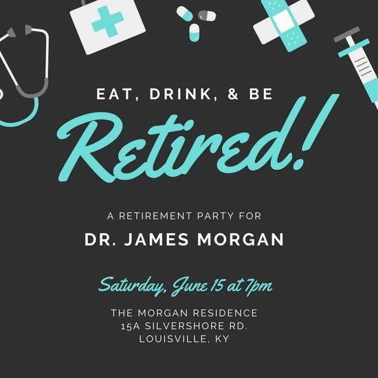 Retirement Party Invitations Template Awesome Customize 2 419 Retirement Retirement Party Invitations Retirement Party Invitation Wording Party Invite Template