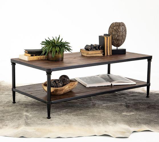 Juno Reclaimed Wood Rectangular Coffee Table Coffee Table Pottery Barn Reclaimed Wood Coffee Table Table